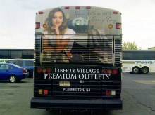 Liberty Village Outlets Vinyl Bus Graphics