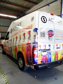 Activate Drinks Vehicle Wrap