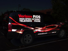 Verizon Fios Reflective Vehicle Graphics