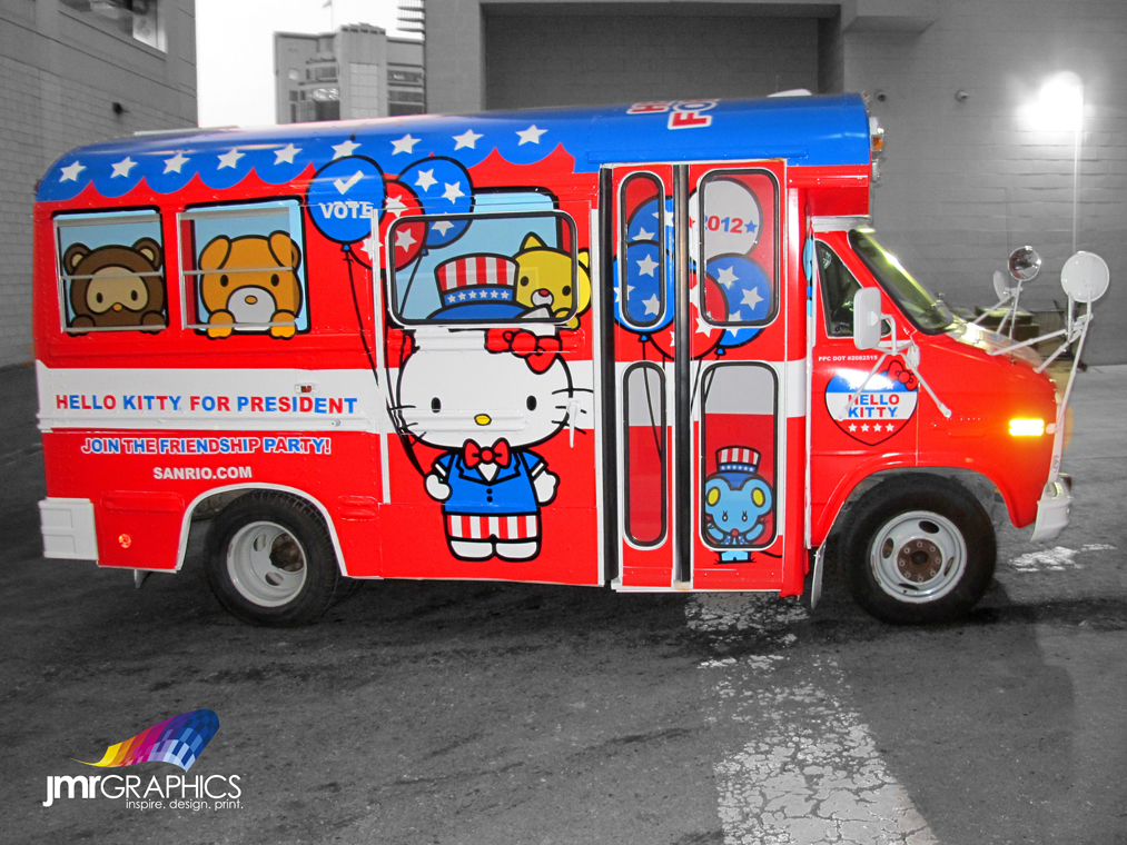 Hello Kitty For President School Bus Wraps In The Fun With Jmr